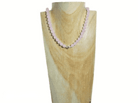 Baby Pink Rose Quartz & Sterling Silver Beaded Necklace | Silver Sensations